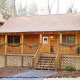 Front outside view of cabin 259 (Country Charm) , in Pigeon Forge, Tennessee.