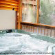 Outside hot tub in cabin 259 (Country Charm) , in Pigeon Forge, Tennessee.