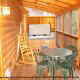 Deck with hot tub in cabin 259 (Country Charm) , in Pigeon Forge, Tennessee.