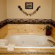 Private Jacuzzi View of Cabin 261 (Smoky Mountain High) at Eagles Ridge Resort at Pigeon Forge, Tennessee.
