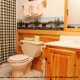 Bathroom View with Sink in Cabin 300 (Soaring Eagles) at Eagles Ridge Resort at Pigeon Forge, Tennessee.