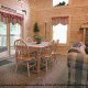Dining Room View of Cabin 302 (Best Of Times) at Eagles Ridge Resort at Pigeon Forge, Tennessee.