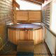 Hot Tub on Deck in Cabin 302 (Best Of Times) at Eagles Ridge Resort at Pigeon Forge, Tennessee.