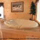 Private Jacuzzi View of Cabin 302 (Best Of Times) at Eagles Ridge Resort at Pigeon Forge, Tennessee.