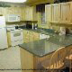 Fully furnished kitchen in cabin 304 (Southern Hospitality) at Eagles Ridge Resort at Pigeon Forge, Tennessee.