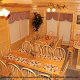 Country dining room in cabin 305 (Bear Right In) at Eagles Ridge Resort at Pigeon Forge, Tennessee.