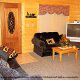 Beautiful great room in cabin 305 (Bear Right In) at Eagles Ridge Resort at Pigeon Forge, Tennessee.