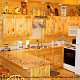 Country kitchen with bar in cabin 305 (Bear Right In) at Eagles Ridge Resort at Pigeon Forge, Tennessee.