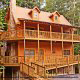 Outside front view in cabin 305 (Bear Right In) at Eagles Ridge Resort at Pigeon Forge, Tennessee.