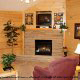 Living room with fire place in cabin 306 (A Smoky Mountain Dream) , in Pigeon Forge, Tennessee.