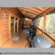 Large back deck in cabin 308 (The Cozy Bear ) , in Pigeon Forge, Tennessee.
