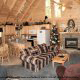 Great room with fire place in cabin 308 (The Cozy Bear ) , in Pigeon Forge, Tennessee.