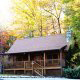 Exterior view of cabin 308 (The Cozy Bear ) , in Pigeon Forge, Tennessee.