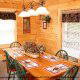 Country dining room in cabin 309 (Georges) at Eagles Ridge Resort at Pigeon Forge, Tennessee.