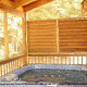 Deck with hot tub in cabin 309 (Georges) at Eagles Ridge Resort at Pigeon Forge, Tennessee.