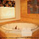 Private jacuzzi in cabin 309 (Georges) at Eagles Ridge Resort at Pigeon Forge, Tennessee.
