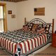 Country bedroom in cabin 311 (Chanticleer) , in Pigeon Forge, Tennessee.