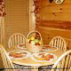 Country dining room in cabin 311 (Chanticleer) , in Pigeon Forge, Tennessee.