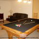 Game room with pool table in cabin 311 (Chanticleer) , in Pigeon Forge, Tennessee.