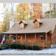 Outside front view of cabin 312 (Bear Mountain Memories) at Eagles Ridge Resort at Pigeon Forge, Tennessee.