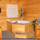 Private jacuzzi in cabin 312 (Bear Mountain Memories) at Eagles Ridge Resort at Pigeon Forge, Tennessee.