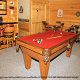 Game room with pool table in cabin 312 (Bear Mountain Memories) at Eagles Ridge Resort at Pigeon Forge, Tennessee.