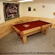 Game room with pool table in cabin 313 (Crosswinds) at Eagles Ridge Resort at Pigeon Forge, Tennessee.