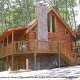 Side view of cabin 314 (Yall Come Back Now Ya Hear) , in Pigeon Forge, Tennessee.