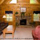 Den View of Cabin 36 (Cozy Creek side) at Eagles Ridge Resort at Pigeon Forge, Tennessee.