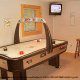 Game Room with Hockey Table in Cabin 42 (Three Bears Lodge) at Eagles Ridge Resort at Pigeon Forge, Tennessee.