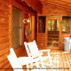 Front Deck View of Cabin 42 (Three Bears Lodge) at Eagles Ridge Resort at Pigeon Forge, Tennessee.