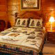 Country Bedroom View of Cabin 47 (Moody Blue) at Eagles Ridge Resort at Pigeon Forge, Tennessee.