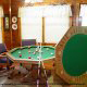 Bumper Pool Game Table in Cabin 47 (Moody Blue) at Eagles Ridge Resort at Pigeon Forge, Tennessee.