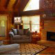 Living Room View of Cabin 47 (Moody Blue) at Eagles Ridge Resort at Pigeon Forge, Tennessee.