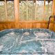 Hot Tub View of Cabin 57 (Bear Heaven) at Eagles Ridge Resort at Pigeon Forge, Tennessee.