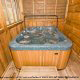 Jacuzzi View of Cabin 57 (Bear Heaven) at Eagles Ridge Resort at Pigeon Forge, Tennessee.