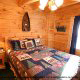 Bedroom View of Cabin 6 (On Eagles Wings) at Eagles Ridge Resort at Pigeon Forge, Tennessee.