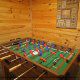 Game Room View of Cabin 6 (On Eagles Wings) at Eagles Ridge Resort at Pigeon Forge, Tennessee.