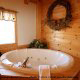 Private Jacuzzi View of Cabin 6 (On Eagles Wings) at Eagles Ridge Resort at Pigeon Forge, Tennessee.