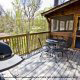 Back Deck View of Cabin 64 (Heavenly Peace) at Eagles Ridge Resort at Pigeon Forge, Tennessee.