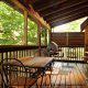Front Porch View of Cabin 66 (Lil Bit Of Heaven) at Eagles Ridge Resort at Pigeon Forge, Tennessee.