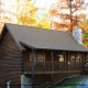 Sunset View of Cabin 66 (Lil Bit Of Heaven) at Eagles Ridge Resort at Pigeon Forge, Tennessee.