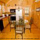 Kitchen View of Cabin 70 (Mountain Laurel Hideaway) at Eagles Ridge Resort at Pigeon Forge, Tennessee.