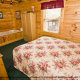 Bedroom View of Cabin 74 (Gerralds Chalet) at Eagles Ridge Resort at Pigeon Forge, Tennessee.