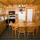 Kitchen View of Cabin 74 (Gerralds Chalet) at Eagles Ridge Resort at Pigeon Forge, Tennessee.