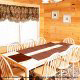 Dining room in cabin 813 (Heavenly View) at Eagles Ridge Resort at Pigeon Forge, Tennessee.