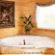 Private jacuzzi in cabin 813 (Heavenly View) at Eagles Ridge Resort at Pigeon Forge, Tennessee.