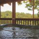 Outdoor hot tub on porch in cabin 815 (As Good As it Gets) at Eagles Ridge Resort at Pigeon Forge, Tennessee.