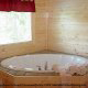 Private jacuzzi in cabin 815 (As Good As it Gets) at Eagles Ridge Resort at Pigeon Forge, Tennessee.