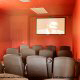 Theater room with theater chairs in cabin 815 (As Good As it Gets) at Eagles Ridge Resort at Pigeon Forge, Tennessee.